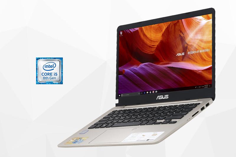 Máy tính xách tay Asus A411UA i5 8250U - Cấu hình mạnh mẽ