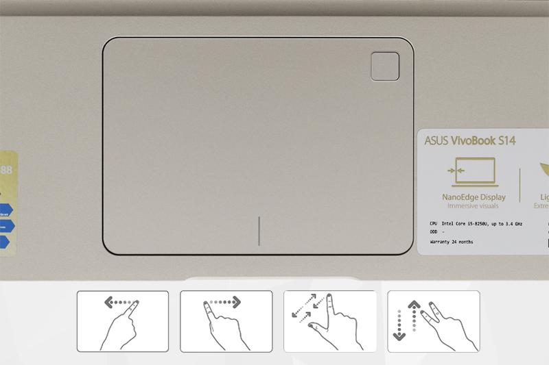 Máy tính xách tay Asus A411UA i5 8250U - TouchPad thông minh