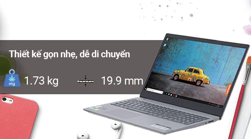 Laptop Lenovo Ideapad S145 15IWL i7 có thiết kế gọn nhẹ